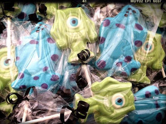 Monster Inc lollipops Monster Inc birthday by SpeciallyMadeBows