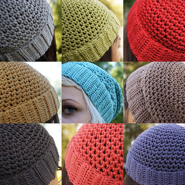Crocheted Classic / Slouchy / Baggy Beanie Pattern pattern ...