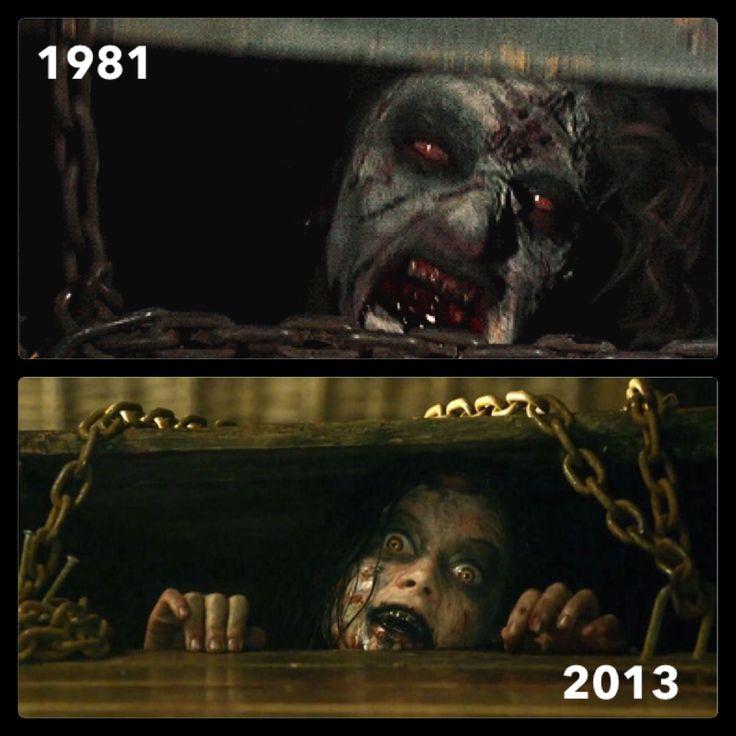The Evil Dead (1981). Director: Sam Raimi. Evil Dead (2013). Director: Fede Alvarez. Solid remake. Horror Movie Ash Evil Dead Remake Original Scary Film