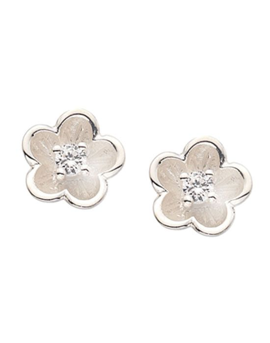 Virtue London sterling silver Lotus studs VSS007