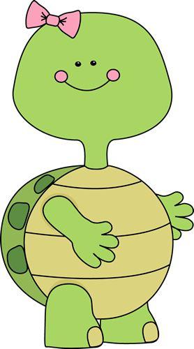 Girl Turtle Clip Art - Girl Turtle Image