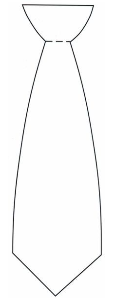 Here's a printable tie template for all of your Father's Day crafts for kids needs.