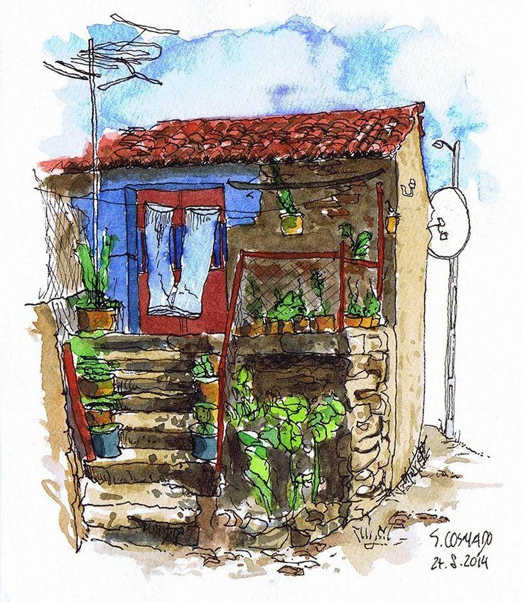 Urban Sketchers Portugal: Casa em São Cosmado
