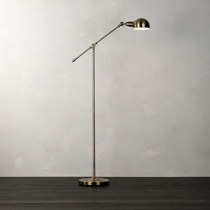John lewis james floor lamp antique brass £100 in store