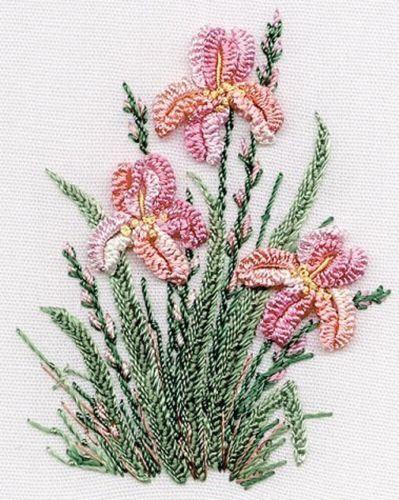 Irises-Brazilian-embroidery-kit-1423-EdMar-threads-choose-fabric-color