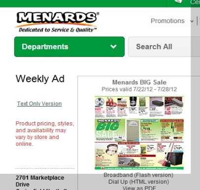 Menards Weekly Ads | http://menards.inserts2online.com/:  Internet Site,  Website, Web Site