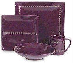 purple dinnerware