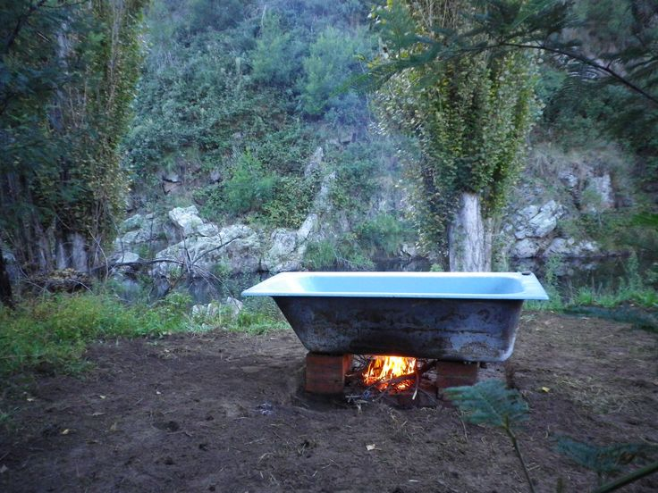 28 Best Wood Fired Bath Hot Tub Images On Pinterest