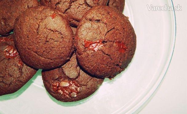 Chrumkavé čokoládové sušienky (fotorecept)