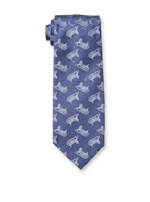 Celine Men's Carriage Tie, Blue