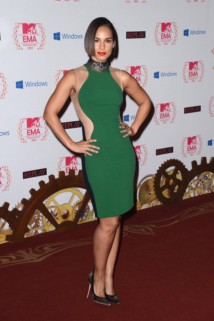 Alicia Keys at the MTV EMAs 2012 #redcarpet