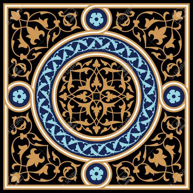 Diseño Tradicional árabe Ilustraciones Vectoriales, Clip Art Vectorizado Libre De Derechos. Image 24057339.