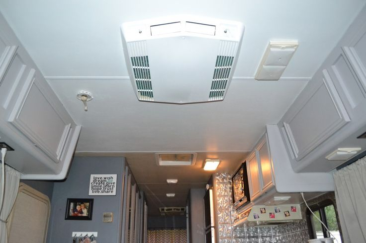 How To Remove Old Yellow Ceiling Headliner In Vintage Rv