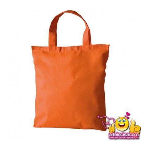 """borsa shopping in tnt """"FLORA"""" in confezione da 200pezzi  riutilizzabile  manici corti  materiale: tnt  area di stampa: cm 35 base  dimensione: cm 38x42 #borsepersonalizzate #shopperpersonalizzate"""