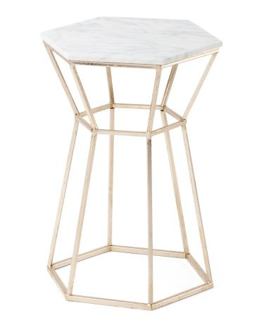 Marble And Gold End Table - Accent Furniture - T.J.Maxx