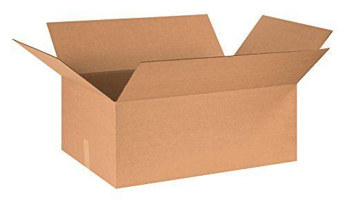 "Aviditi 302012 Corrugated Box, 30"" Length x 20"" Width x 12"" Height, Kraft (Bundle of 15)"