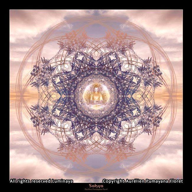 Original Mandala Buddha Hood Spiritual Art Psy Art par Pumayana