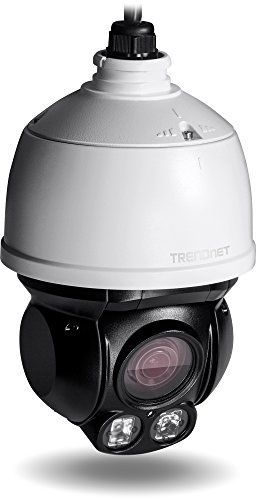 TRENDnet Indoor/Outdoor (TV-IP430PI) Speed Dome PoE IP Camera with 2 Megapixel 1080p Full HD Resolution, 4x Optical Zoom, 16x Digital zoom with Auto-Focus, IP66 Weather Rated Housing, 100 ft. Night Vision, Endless 360 degree Pan/ 80 Degree Tilt,  ideal for monitoring your Home/Large business remotely, Micro SD Card slot, Digital WDR, Secu, Free App for Android and IOS, ONVIF, IPv6 Compliant #homesecuritysystemmonitor