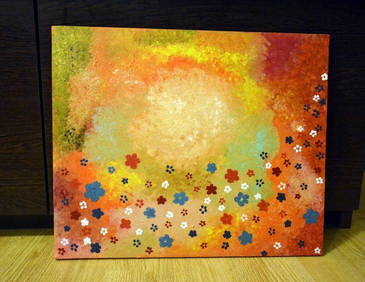 Acrylic on canvas 2012 Flower Galaxy Size: 46×38 cm