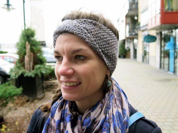Hand knitted ladies twist headband  Sparkling by MadeGinieLaine