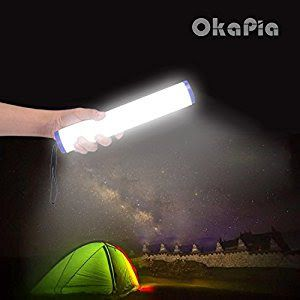 Win Camping lampOKAPIA Portable Multi-function Magnetic LED Flashlight 4-Level Dimmable Brightness LED Tent Camping Lamp SOS Emergency Flash Light Garage Lights USB Rechargeable Magnetic Strip Light