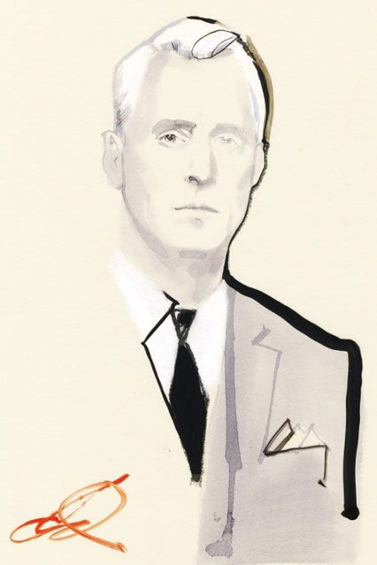 John Slattery as Roger Sterling  from the hit tv series MAD MEN  by David Downton