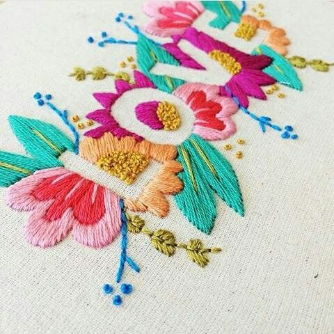 embroidery words in negative space