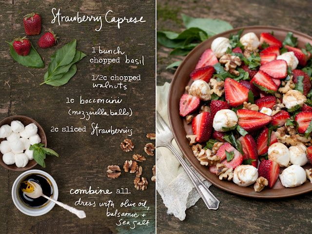 Strawberry Caprese Salad -  The Forest Feast