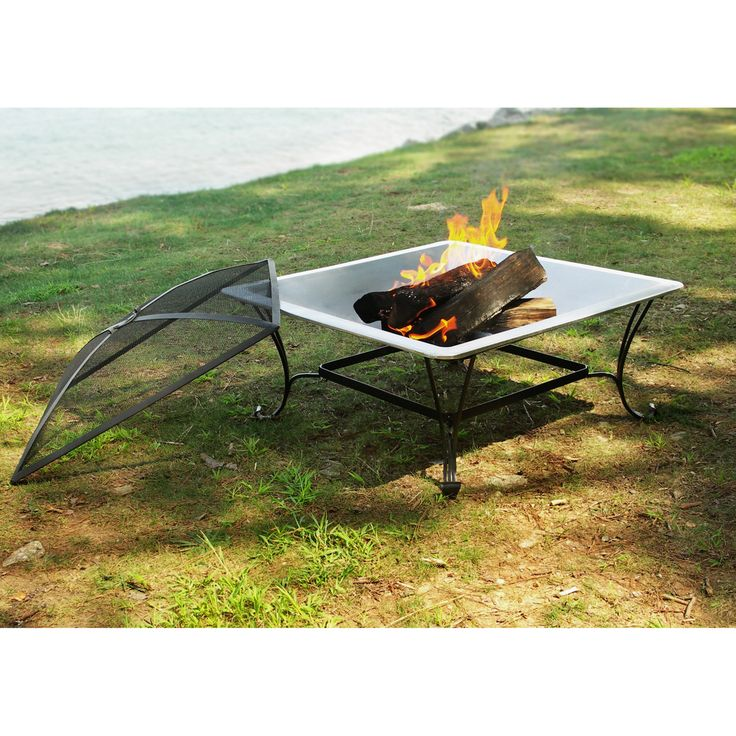 33-inch Square Steel Fire Bowl - Overstock™ Shopping - Great Deals on Fireplaces & Chimineas