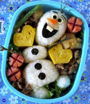 How to Make Disney's Frozen Bento: Olaf - foodista.com