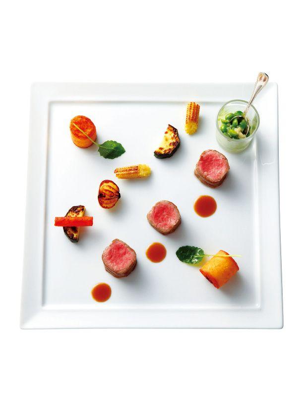 『ラ・フェット ひらまつ 』 仔牛フィレ肉の ローストマデラ酒風味の  ソース ジャガイモのクルスティアン を添えて