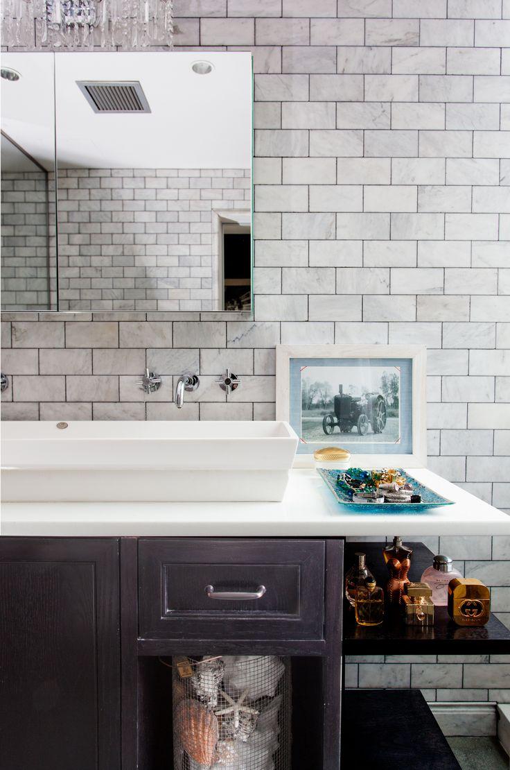 45 best subway tile ideas images on pinterest bathroom highline penthouse loft apartment master bathroom subway tile medicine cabinet wellbuilt company www dailygadgetfo Choice Image