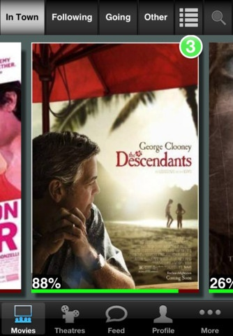 MovieGoer For The iPhone Makes Going To Movie Theaters More Fun And Social [Review]: Film, George Clooney, Good Movies, King George, The Descend, Thedescend, Shailene Woodley, Academy Awards, Great Movies