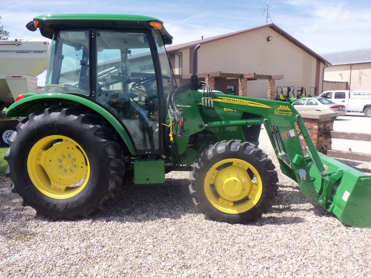 John Deere  5055E cab tractor with 553 loader