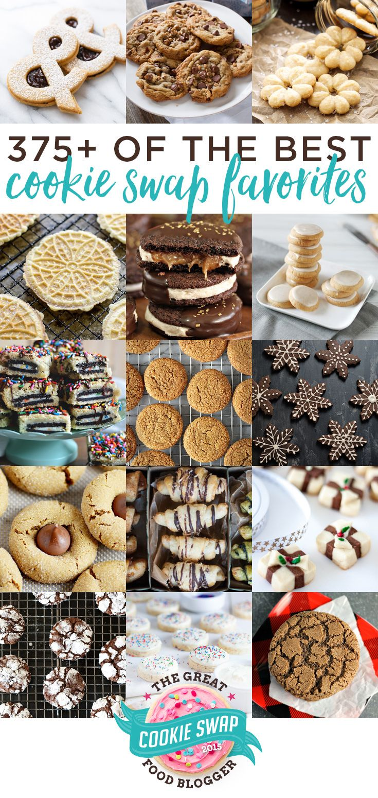 375+ of the best holiday cookie recipes from the Great Food Blogger Cookie Swap! @loveandoliveoil @TheLittleKitchn #fbcookieswap