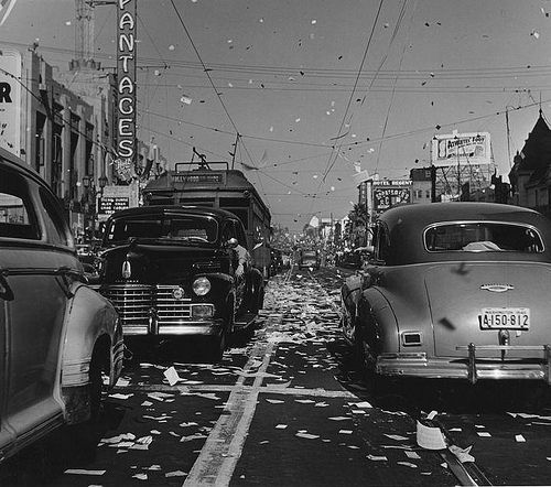 men s haircut los angeles u s vj day 1945 on blvd los angeles 1940 1945 | 75c22ff8d8f006eda05a6b113aae3fa1