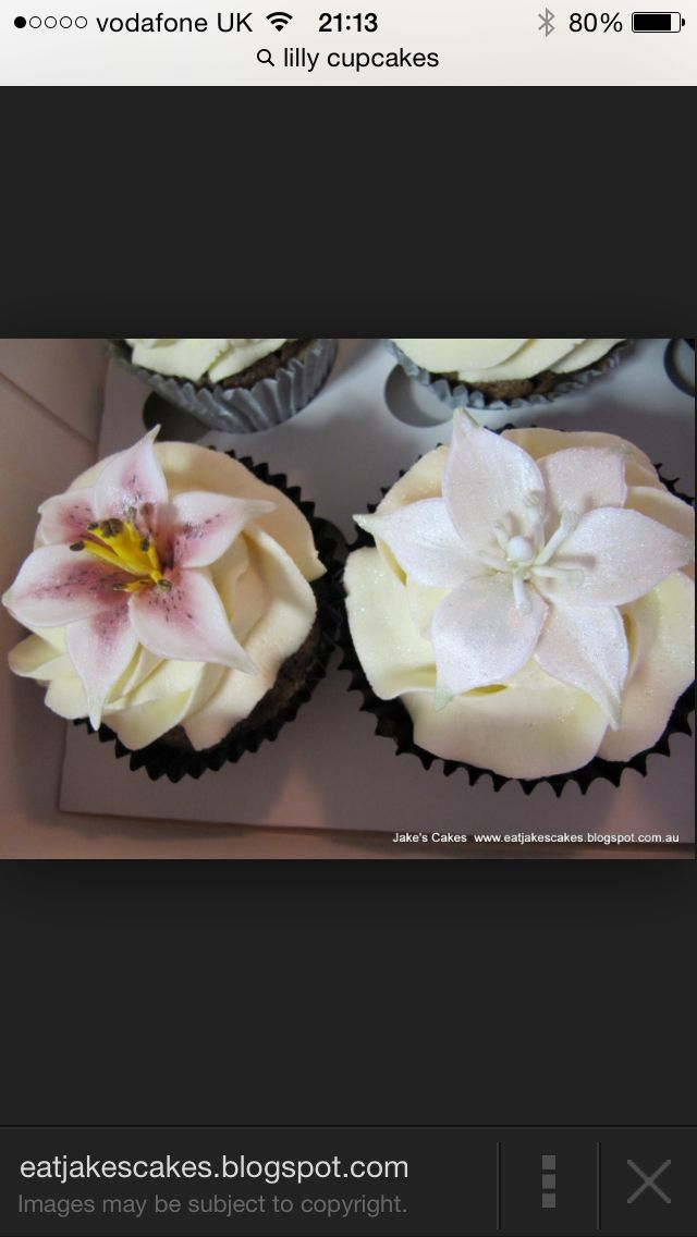 Cupcakes Lilies 4th Wedding Anniversary Ideas Pinterest Lilies ...