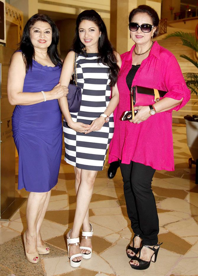 Kiran Juneja with Bhagyashree Patwardhan and Poonam Dhillon at a lunch bash. #Bollywood #Fashion #Style #Beauty