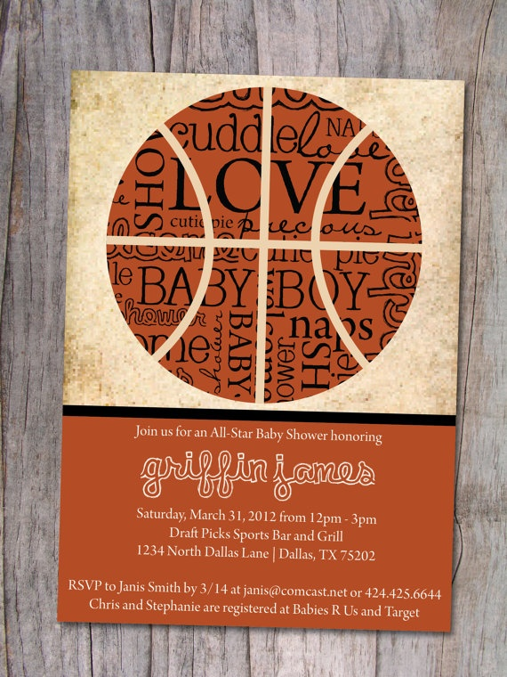 Amazing Basketball Baby Shower Invitation By PinchOfSpice On Etsy, $15.00