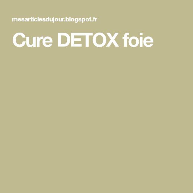 Cure DETOX foie