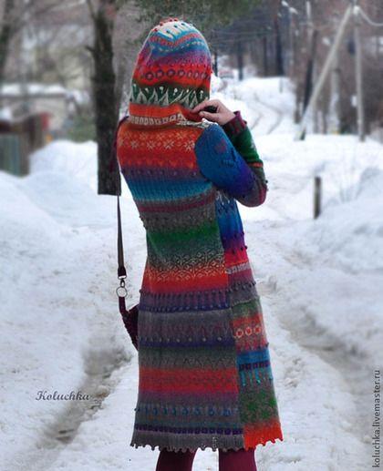 """Верхняя одежда ручной работы. Пальто """"Жизнерадостное"""". Лена Статкевич. Ярмарка Мастеров. Женское пальто, Осеннее пальто"""