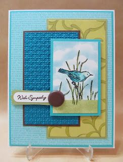 Savvy Handmade Cards: Simply Sketched Sympathy Card