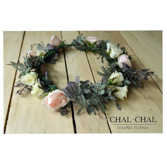 #coronita de cortejo #flowercrown  Pedido para Gisela. #chalchalflores #wedding