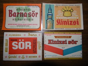 Vintage Hungarian beer labels - lovely and simple graphics