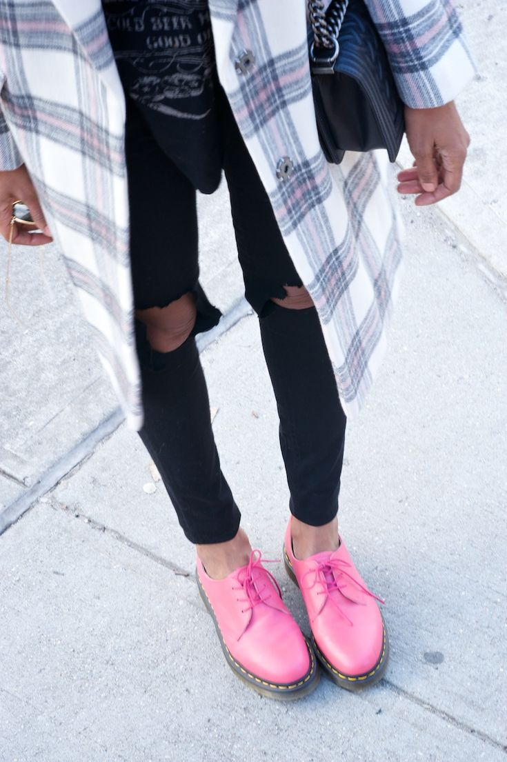 Pink Doc Martens uploaded to my Style Tag app. Get the full look + upload your own looks:  http://www.style-tag.com