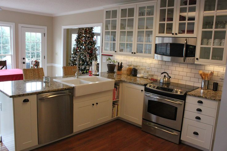 Another view of our customer's new IKEA kitchen with