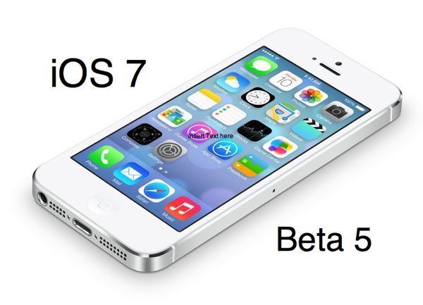 iOS 7 beta 5 release date August 12