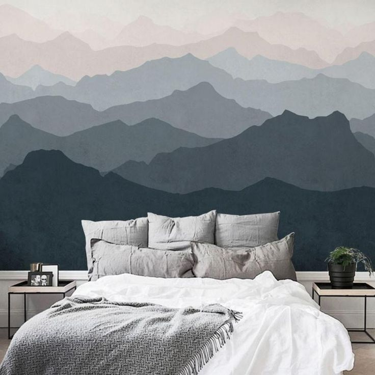 Best Gradient Mountain Removable Wallpaper Mural Brooklyn 400 x 300