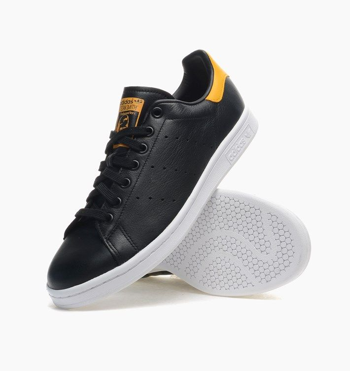 caliroots.com Stan Smith adidas Originals M17164 Black & Yellow Classic!  130799 | Sneakers! | Pinterest | Stan smith and Spring 2015