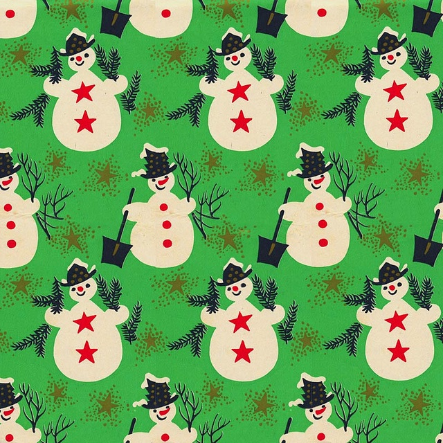 Mid-Century Christmas Paper - Frosty by ElectroSpark, via Flickr